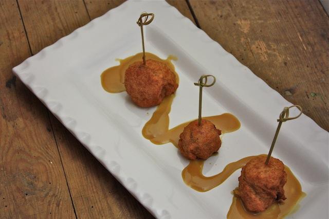 Finger Food Friday -- Cajun Corn Dogs with Honey Mustard Ale Sauce